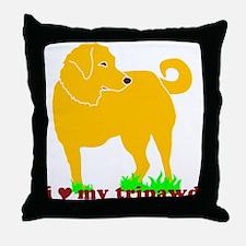 Golden Tripawd Love Throw Pillow