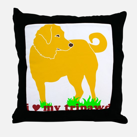 Golden Tripawd Love Throw Pillow