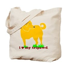 Golden Tripawd Love Tote Bag