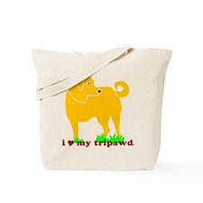 Golden Tripawd Love Tote Bag