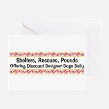 Discount Designer Dogs Greeting Cards (Package of
