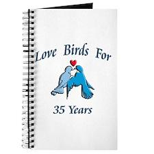 Unique Love bird wedding Journal