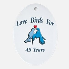 Cute Years Oval Ornament
