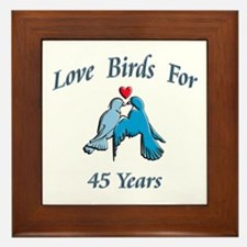 Unique 50th wedding anniversary party Framed Tile