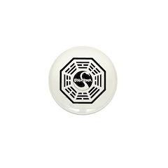 The Swan Mini Button