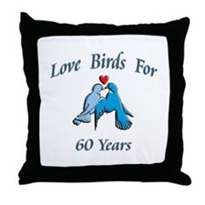 Cute 60th wedding anniversary Throw Pillow