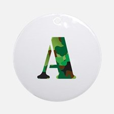 The Letter 'A' Ornament (Round)