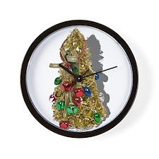 Christmas Tree and Bells Wall Clock