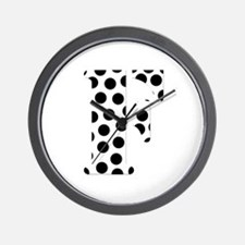 The Letter 'F' Wall Clock
