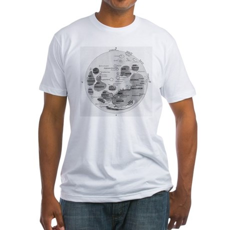 Moon Diagram Fitted T-Shirt