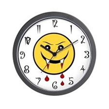 Vampire Smiley Wall Clock