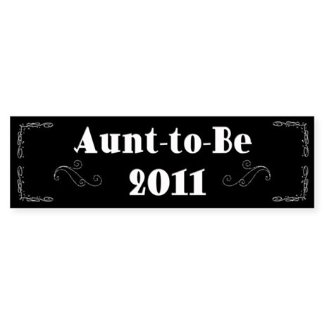 Aunt-to-Be 2011 Sticker (Bumper)
