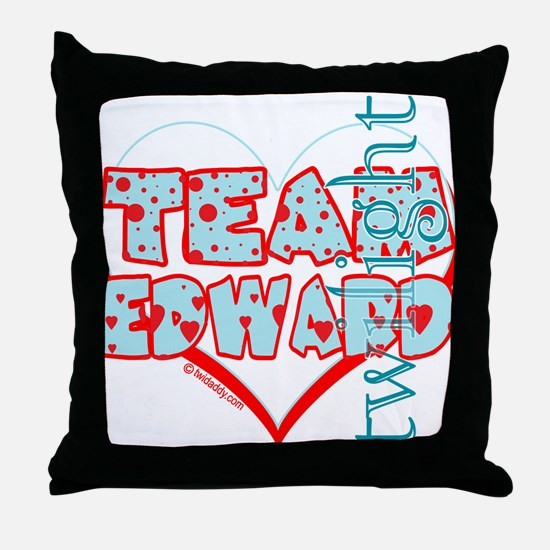 Team Edward Dots and Hearts by Twidaddy Throw Pill