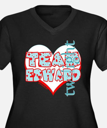 Team Edward Dots and Hearts by Twidaddy Women's Pl