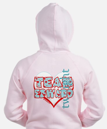 Team Edward Dots and Hearts by Twidaddy Zip Hoodie