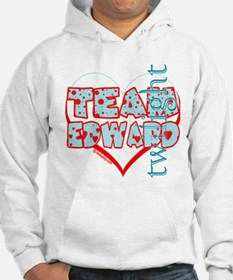 Team Edward Dots and Hearts by Twidaddy Hoodie