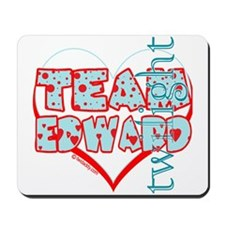 Team Edward Dots and Hearts by Twidaddy Mousepad