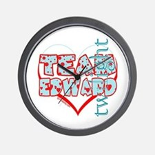 Team Edward Dots and Hearts by Twidaddy Wall Clock