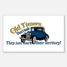 Old Timers Sticker (Rectangle)