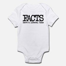 Facts have a liberal bias Infant Bodysuit