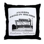Anaheim Drive-In Theatre Throw Pillow