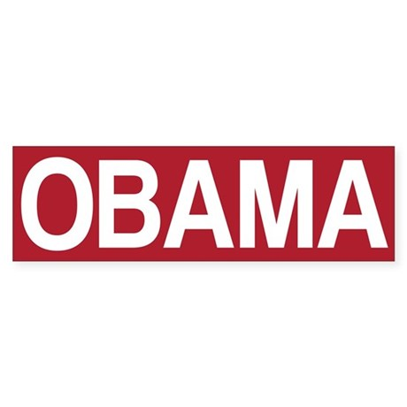 STOP OBAMA Sticker (Bumper)