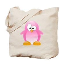 Pink Penguin Tote Bag