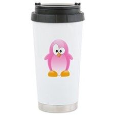 Pink Penguin Travel Mug
