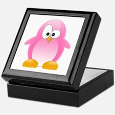 Pink Penguin Keepsake Box