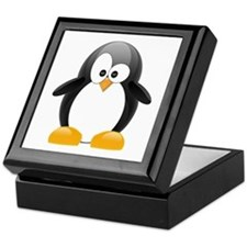 Black Penguin Keepsake Box