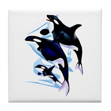 Orca Family Tile Coaster