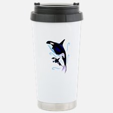 Orca Mom and Baby Stainless Steel Travel Mug