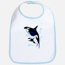 Orca Mom and Baby Bib