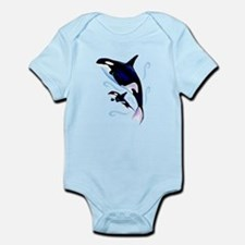 Orca Mom and Baby Infant Bodysuit