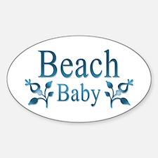 Beach Baby Flowers Sticker (Oval)