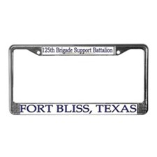 125th BDE Support Bn License Plate Frame