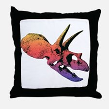 TOROSAURUS DINOSAUR SKULL Throw Pillow