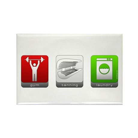 GTL - Gym, Tanning, Laundry Rectangle Magnet (10 p