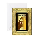 Grtg Cards (Pk of 10) Mona Lisa 'Smile Anyway!'