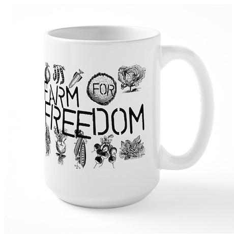 Farm for Freedom Large Mug