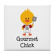 Gourmet Chick Tile Coaster