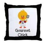 Gourmet Chick Throw Pillow
