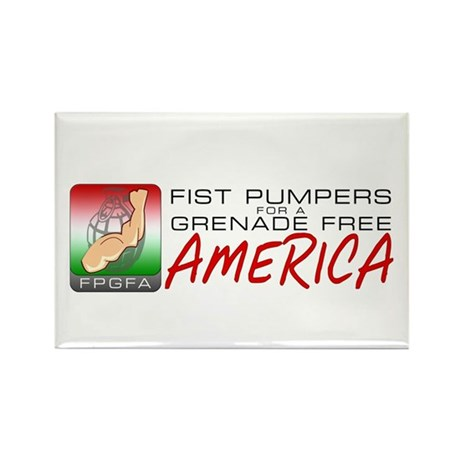 Grenade Free America Rectangle Magnet