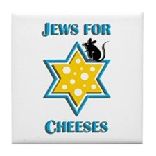 Jews for Cheeses Tile Coaster