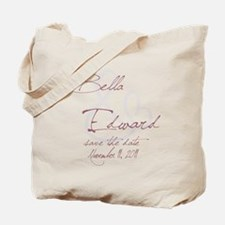 Bella & Edward Grey & Pink Sh Tote Bag