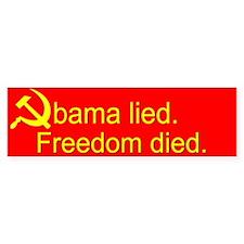 Obama Lied Soviet Bumper Sticker
