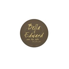 Brown & Gold Round Mini Button (10 pack)