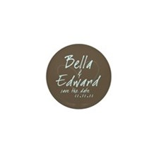 Brown & Blue Round Mini Button (10 pack)