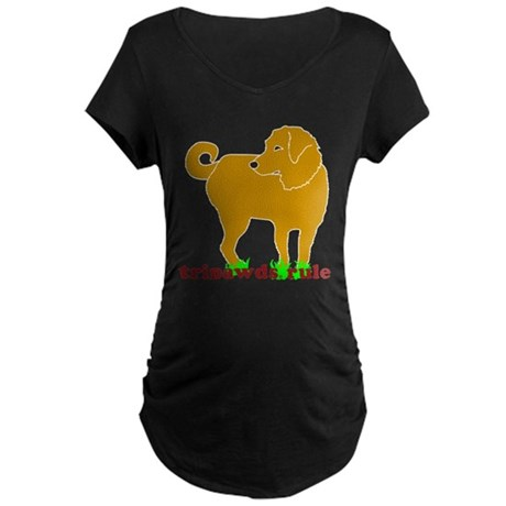 Golden Tripawds Rule Maternity Dark T-Shirt