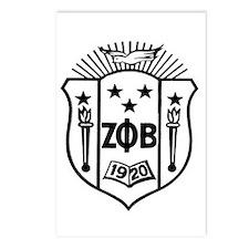 ZETA CREST - BLACK Postcards (Package of 8)